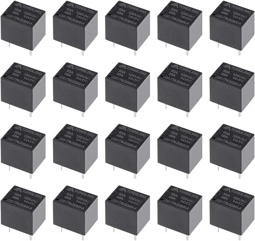 5 Pcs JQC-T78-DC05V-C 5V Bobine SPDT Relais puissance /électromagn/étique circuit 5broche