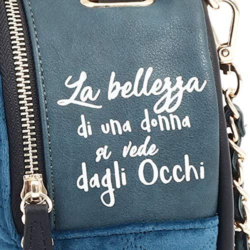 Donna Mini Pandorine Borsa Le Infinito velvet Zainetto Turquoise Ai18daj0222904 Eyes XaEv1aqw
