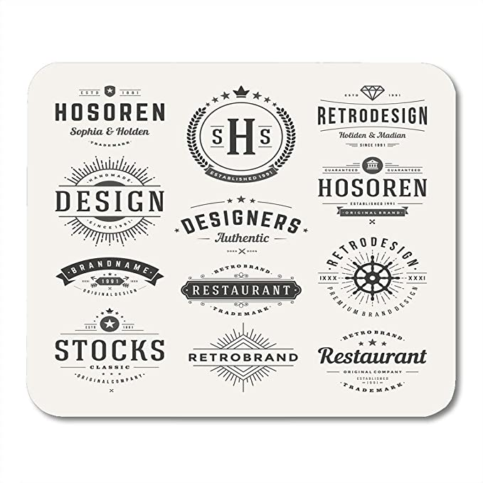 Mouse Pads Seal Hipster Retro Vintage Insignias Logotipos ...