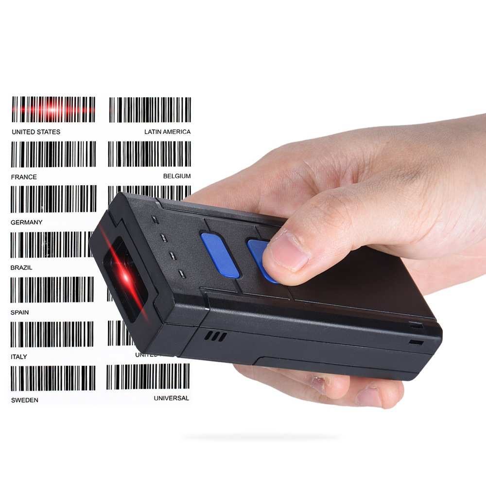 Aibecy Tragbar Bluetooth 4.0+EDR Kabellos 1D Laser Barcodescanner Handscanner Leser Unterst/ützung f/ür Windows XP 7.0 8.0 10 System IOS Android f/ür Supermarkt Bibliothek Express Unternehmen Warenhaus