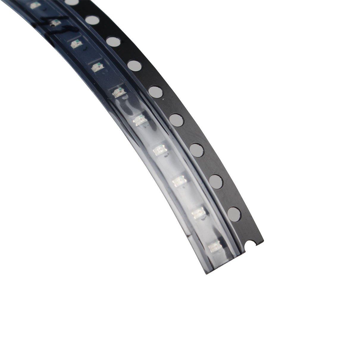 0603 SMD LED, Color Rojo/Amarillo/Verde/Blanco/Azul diodos emisores de luz), color negro (100 Pcs): Amazon.es: Electrónica