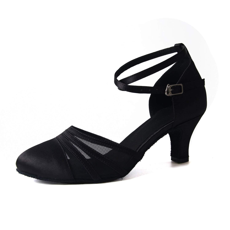 Syrads Chaussures de Danse Latine pour Femmes Chaussures de Danse Tango Valse...