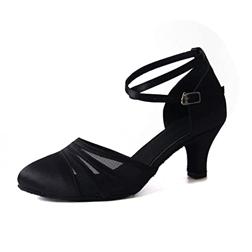 49ac1754 Syrads Zapatos de Baile Latino para Mujer Baile de Salón Tacón Alto Zapatos  de Tango Salsa Samba Vals: Amazon.es: Zapatos y complementos