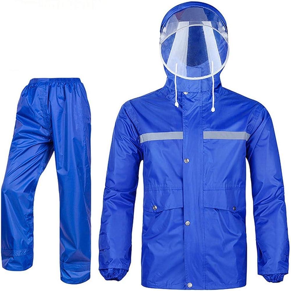 Icegrey Damen Herren Regenanzug Atmungsaktive Schneeanzug Regenjacke und Hose mit Reflexstreifen Regenbekleidung f/ür Radfahren