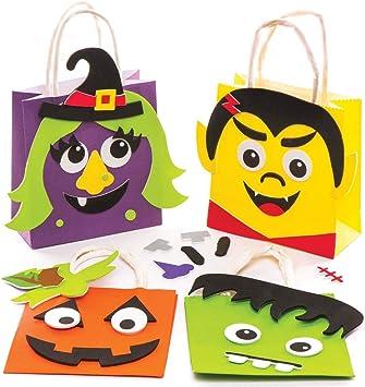 Baker Ross Kits de Bolsas (Pack de 4) para Manualidades y Fiestas Infantiles de Halloween: Amazon.es: Juguetes y juegos
