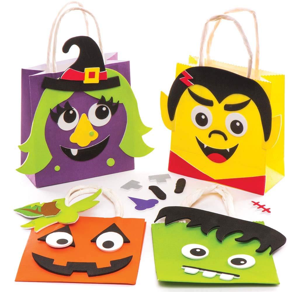 Baker Ross Kits de Pochettes-Cadeaux d'halloween (Lot de 4), Loisirs créatifs et décorations d'halloween pour Enfants