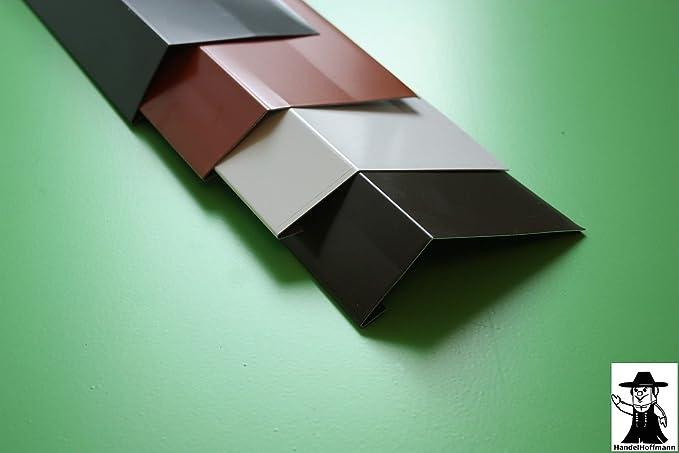 Wandanschlu/ßblech 1 m lang Aluminium farbig 0,8 mm gro/ß, Anthrazit RAL 7016