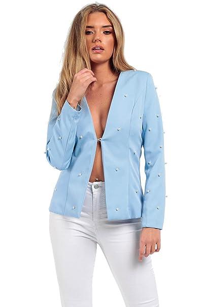 Missi London Chaqueta de traje - para mujer Azul azul ...