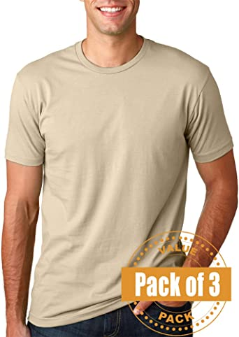6 Pack Next Level Mens Premium Fitted Short-Sleeve Crew 3600-Dark Chocolate