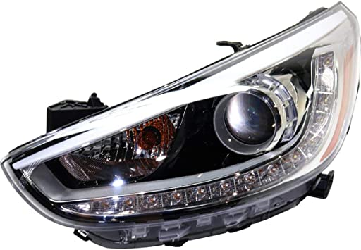 Amazon.com: New Left Driver Side Projector Type Head Lamp Assembly With LED  For 2012-2017 Hyundai Accent Sedan And Hatchback Models HY2502191  921011R610: Automotive | Hyundai Accent 2012 Headlight Bulb |  | Amazon.com