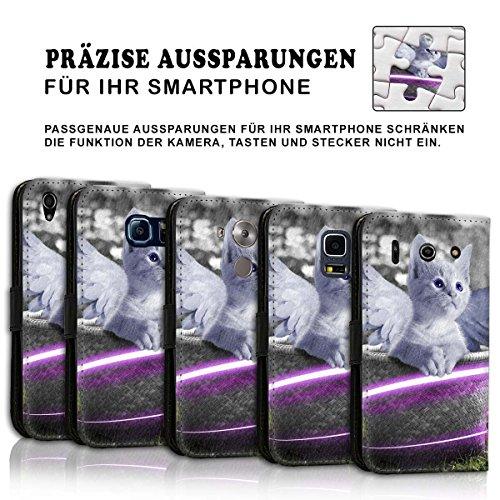 Wallet Book Style Flip Handy Tasche Case Schutz Hülle Schale Motiv Etui für Apple iPhone 5 / 5S - Design Flip MV146