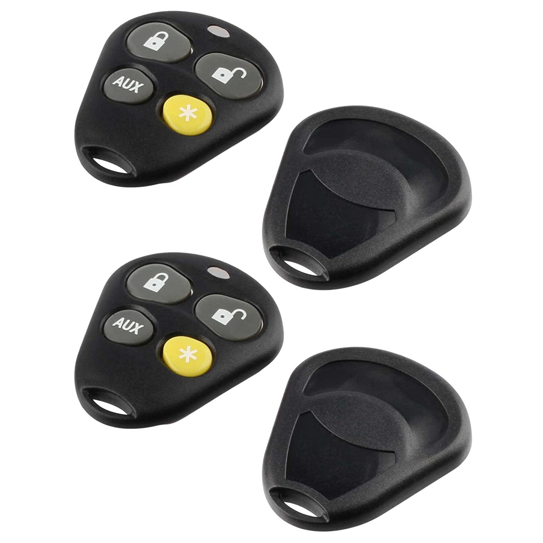 3 Button Key Fob Keyless Entry Remote shell Case /& Pad fits Viper EZSDEI474V