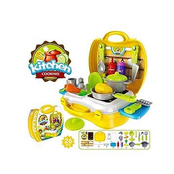 buyger piezas portatil juguetes de plstico cocina juegos de rol utensilios para nios cocinar alimentos