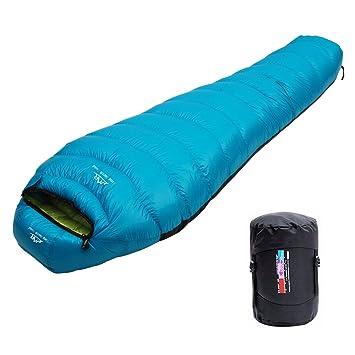 LMR Ultraligero Saco de Dormir Tipo Momia, para las 4 temporadas,a prueba de agua, Saco de compresión