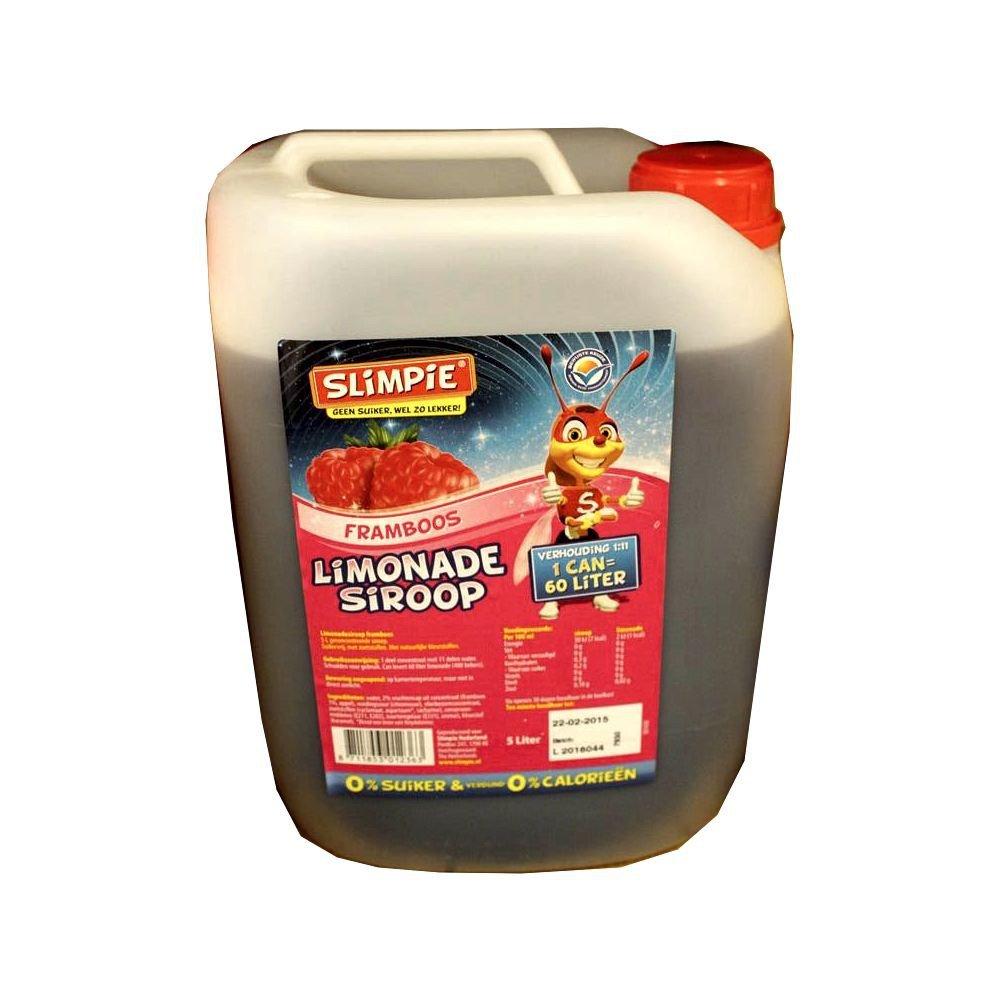 Slimpie Limonade Siroop Framboos 5l Kanister (Getränke-Sirup ...