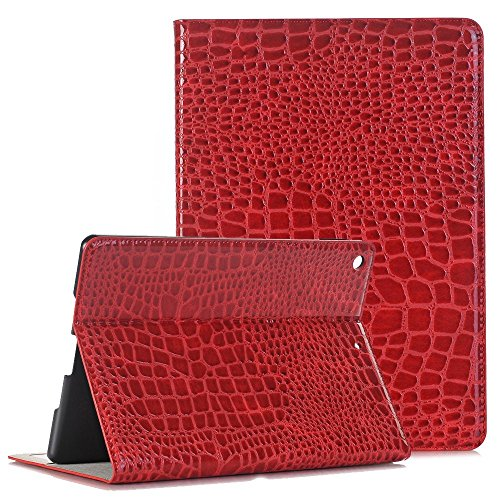 Price comparison product image iPad 10.5 inch Pro Case,  Businda Folio Stand Premium PU Leather,  Smart Auto Sleep / Wake Feature with Card Slots,  Case Cover for Apple iPad Pro 10.5 Inch - Red