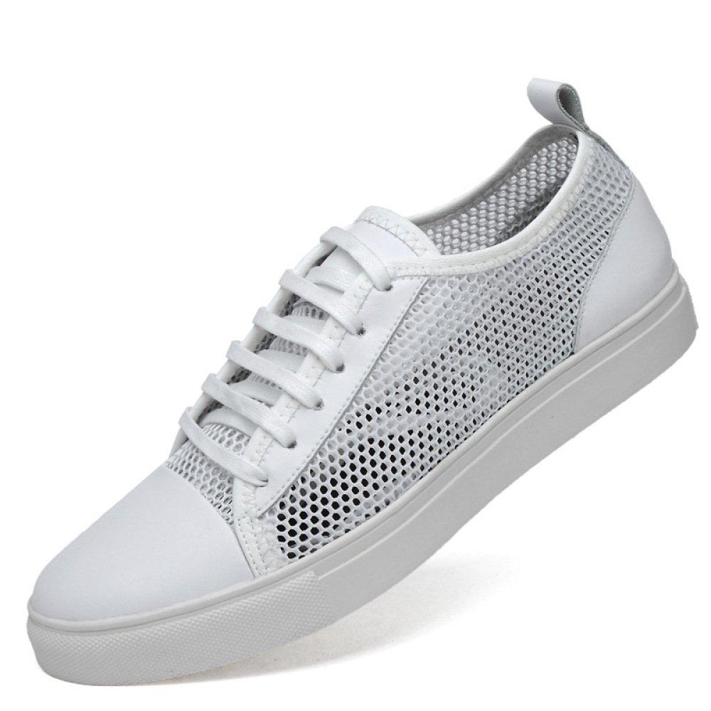 YXLONG Sommer Herrenschuhe Niedrig Cut Lederschuhe Mesh Sportschuhe Beiläufige Flache Atmungsaktive Schuhe