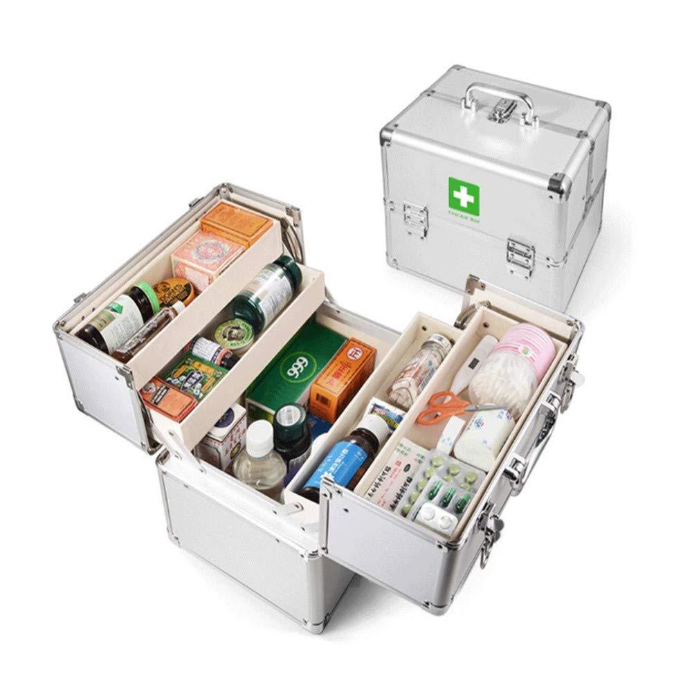 Medicine Box Medicine Box Storage Box First Aid Kit Metal Medicine Box With Medicine Box With Lock (Expanded Thickening Enhancement)