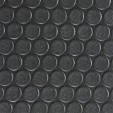 Rubber Cal Coin-Grip Flooring and Rolling Mat, Black, 2mm x 4 x 8-Feet