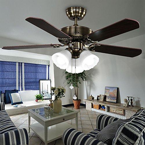 Huston Fan Modern Simple 42-inch Ceiling Fan Lamp Living Room Home LED Llights Ceiling Fan Chandelier Bronze Fan by Huston Fan (Image #5)'