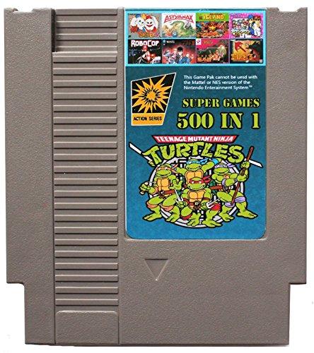 500 En 1 Nes Cartucho De Juego De Nintendo Con Contra Turtles Ninja