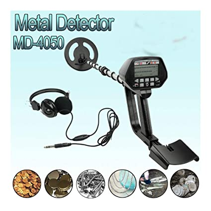Amazon.com : Waterproof Metal Detector Deep Sensitive Search Gold Digger Hunter w/Headphone : Garden & Outdoor
