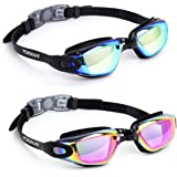 Vorshape Swim Goggles Pack of 2 Swimming Goggle No Leaking Anti Fog UV Protection with Case for Adult Men Women Youth…