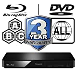 Panasonic DMP-BDT180EB Smart 3D 4K Upscaling ICOS Multi Region All Zone Code Free Blu-ray Player. Blu-ray zones A, B and C, DVD regions 1 - 8. YouTube, Netflix etc. HDMI output. HDD Playback