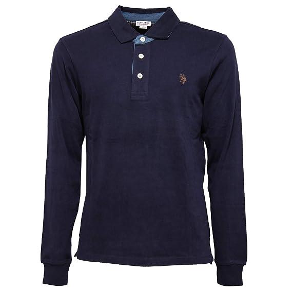 4477K Polo uomo U.S. POLO ASSN. Blue Delave Heavy Cotton t-Shirt ...