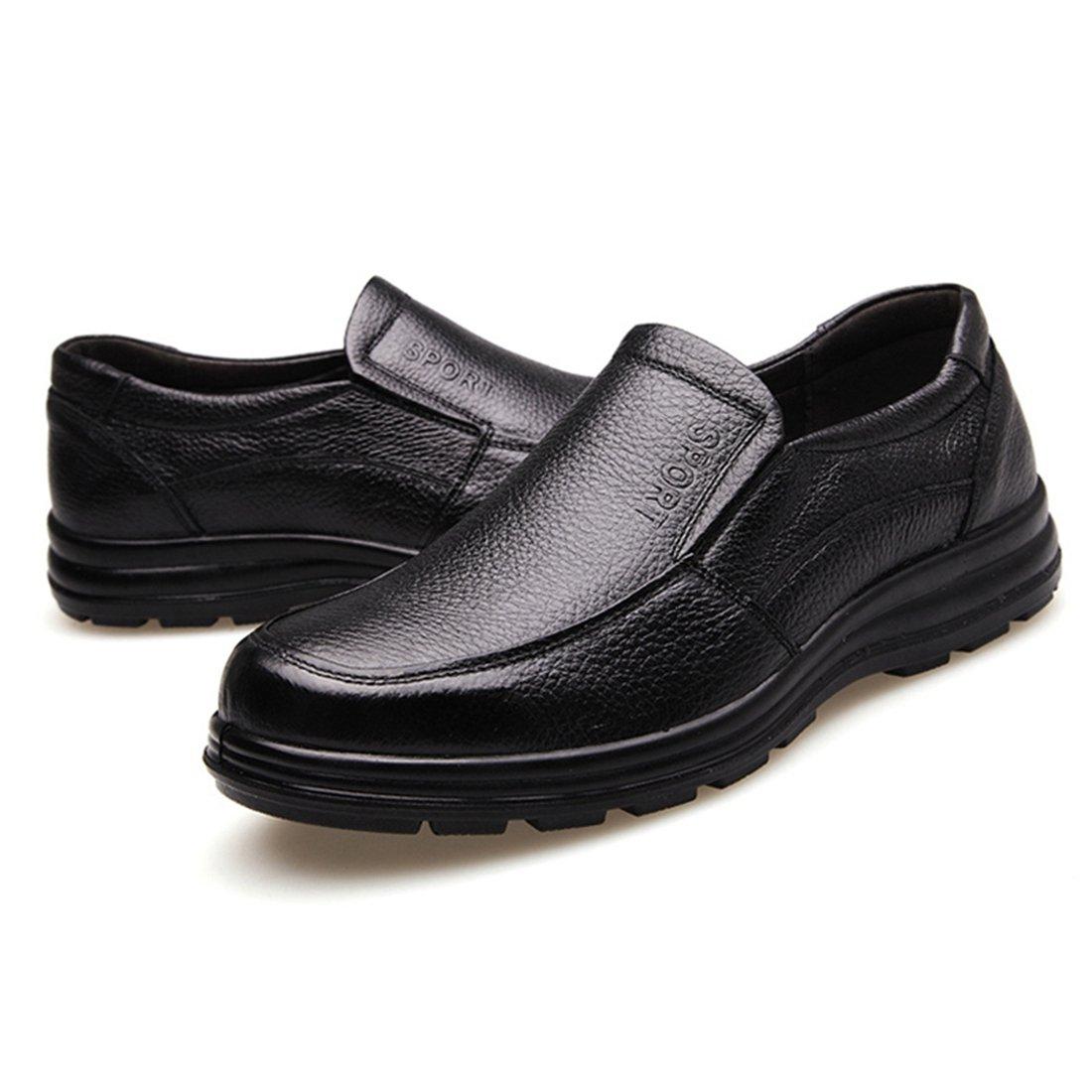 Jiyaru Mens Work Shoes Durable Restaurant Kitchen Chef Flats Business Shoe Black US 7.5