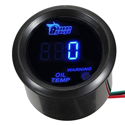 "ESUPPORT Car 2"" 52mm Digital Oil Temp Gauge Blue LED Light Temperature Meter Automotive: Automotive"