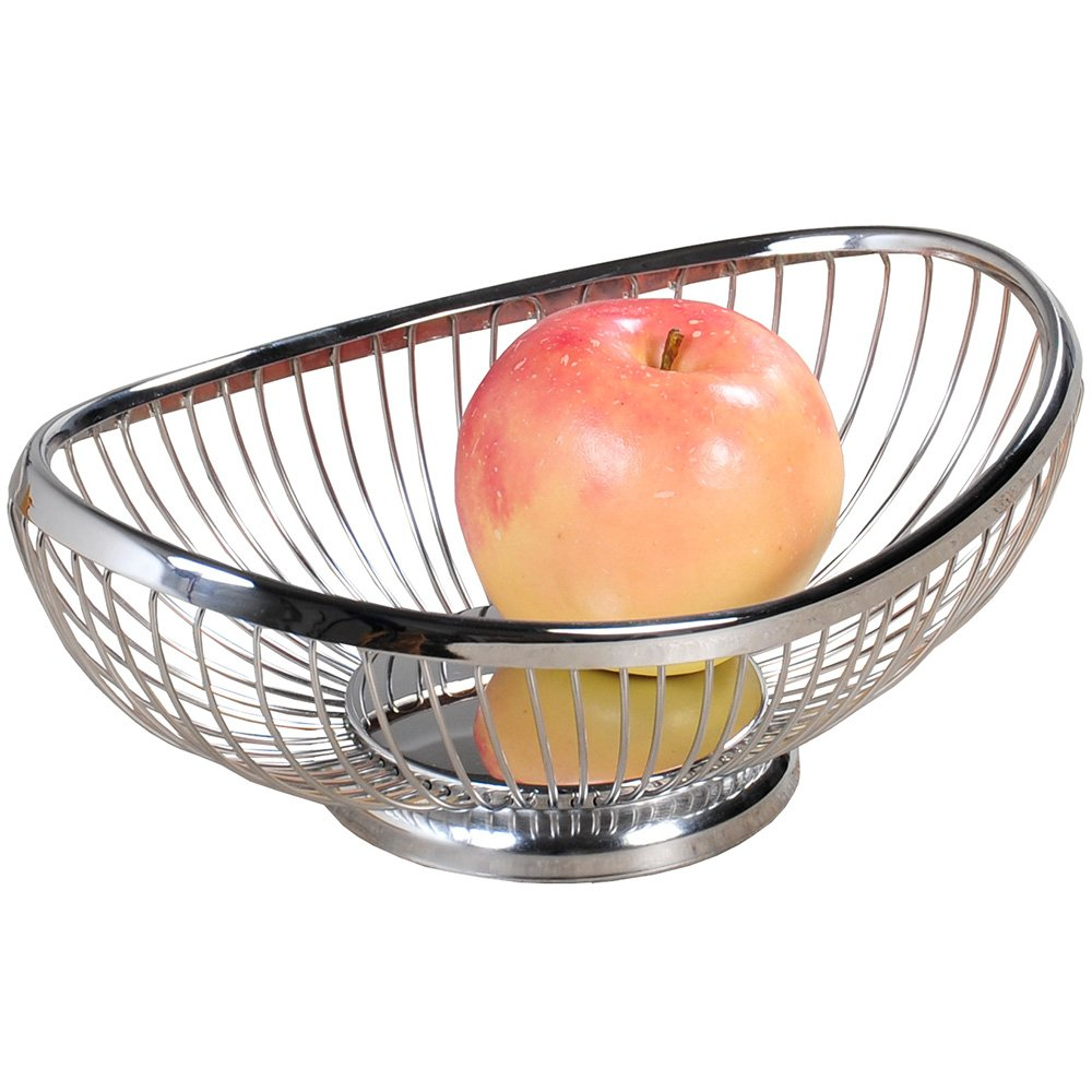 Kesper 90841 Fruit/Bread Basket 10.04'' x 6.89''x 3.74'' of metal, Silver