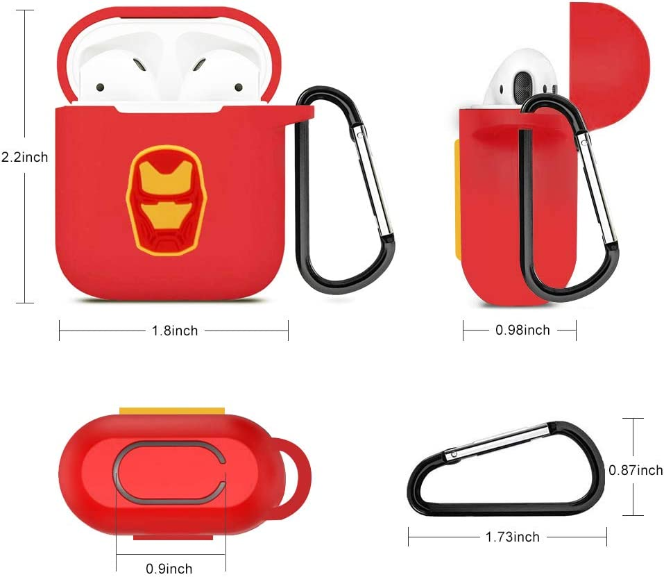 Thor Marvel Avengers Endgame Airpods Protective Case Silicone Airpods Cover Skin Compatible with Apple Airpods 1 and AirPods 2
