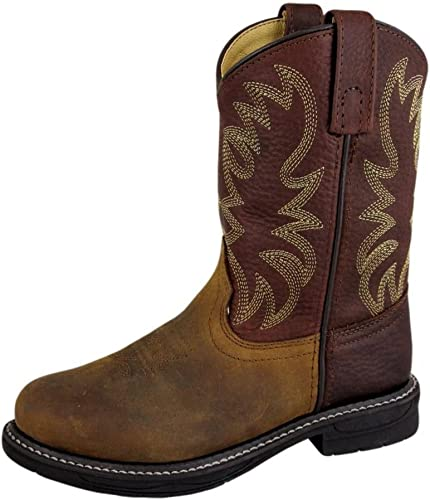 YOUTH NEW Western Cowboy  Leather Wellington Tuff Tred Smoky Mountain Boots