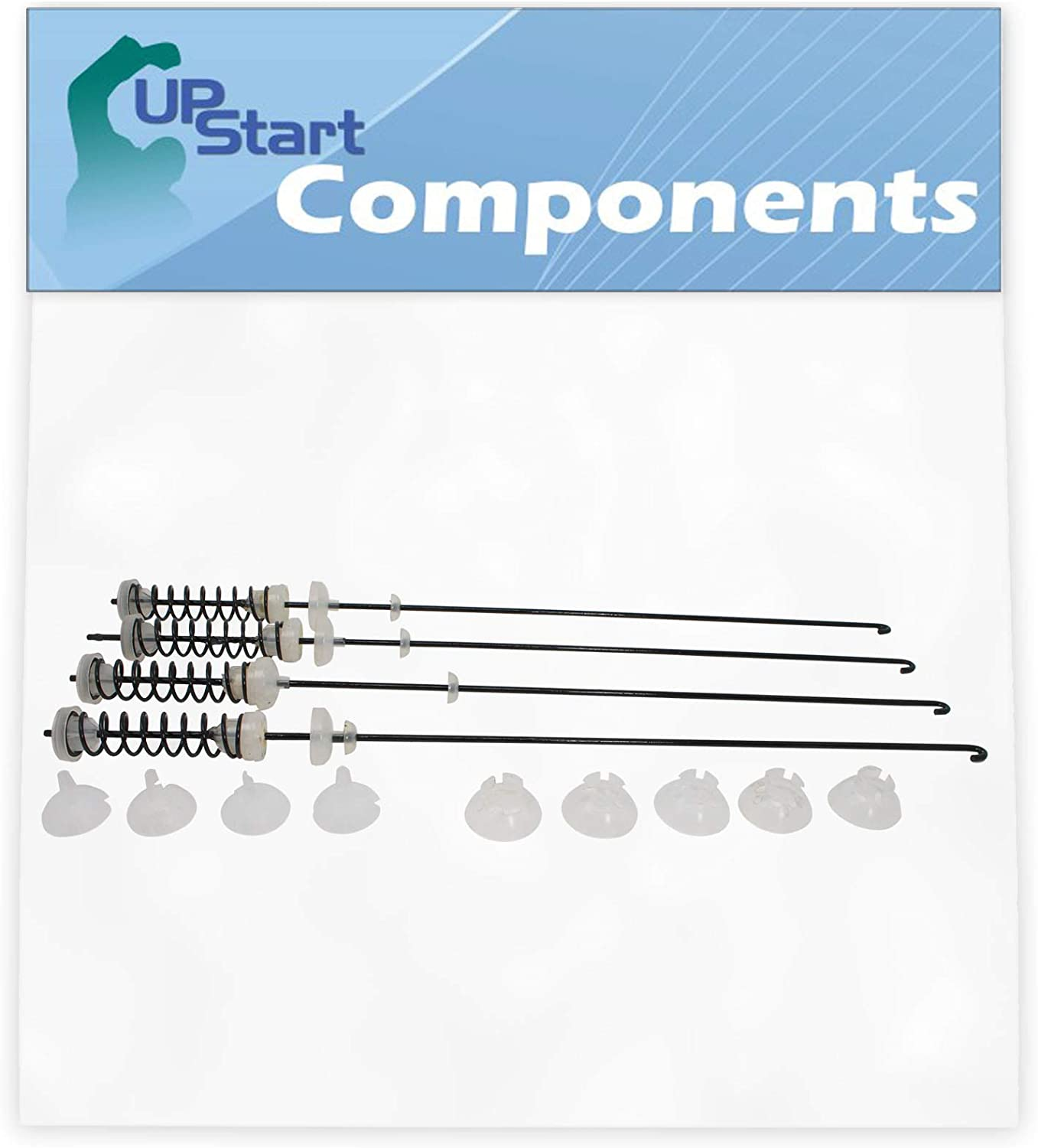 4-Pack W10780048 Washer Suspension Kit Replacement for Kenmore/Sears 110.20022013 Washer - Compatible with W10257088 Washing Machine Suspension Rods