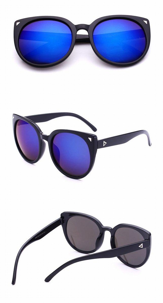 sonnenbrille Retro Ey Gläser 9748 frauen Persönlichkeit katze auge sonnenbrille schwarzer rahmen mehrfarbig 8GmXujE