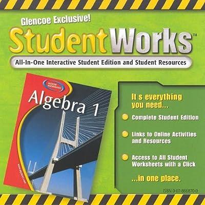 Glencoe Algebra 1 Studentworks Merrill Algebra 1 Mcgraw Hill