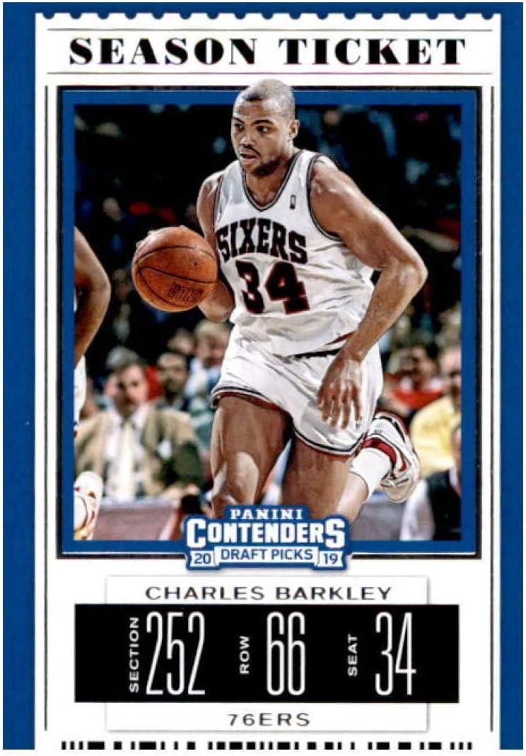 2019-20 Panini Contenders Draft Picks Season Ticket Variation #7 Charles Barkley Philadelphia 76ers Basketball Card