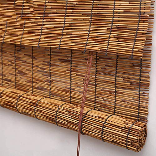 - Koovin Bamboo Roller Blinds,Natural Reed Window Shade, Anti-UV Moldproof Decorative Blinds,for Indoor/Outdoor/Garden/Window