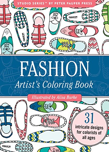 Pdf Crafts Fashion Portable Adult Coloring Book (31 stress-relieving designs)