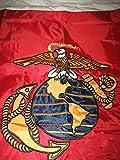 3x5 Embroidered Sewn USMC Marines Double Sided Nylon Flag 3'x5' (USA) Gift Set