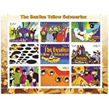 The Beatles Yellow Submarine stamp sheet with 9 mint stamps - psychedelic artwork from the 60s