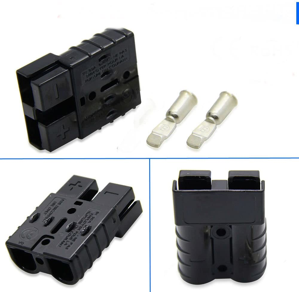 Connector Kits Black SB50A 600V 1x For ANDERSON PLUGS W//CONTACTS 6 GAUGE