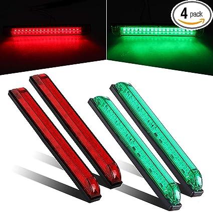 """5x 4/"""" LED Amber Strip Light Bar Utility Side Marker Trailer Lamp for RV Boat"""