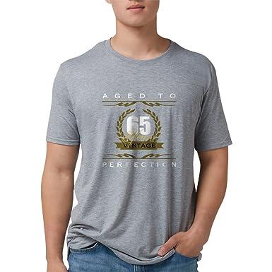 76f64c710 Amazon.com: CafePress - Vintage 65Th Birthday T-Shirt - Mens Tri ...