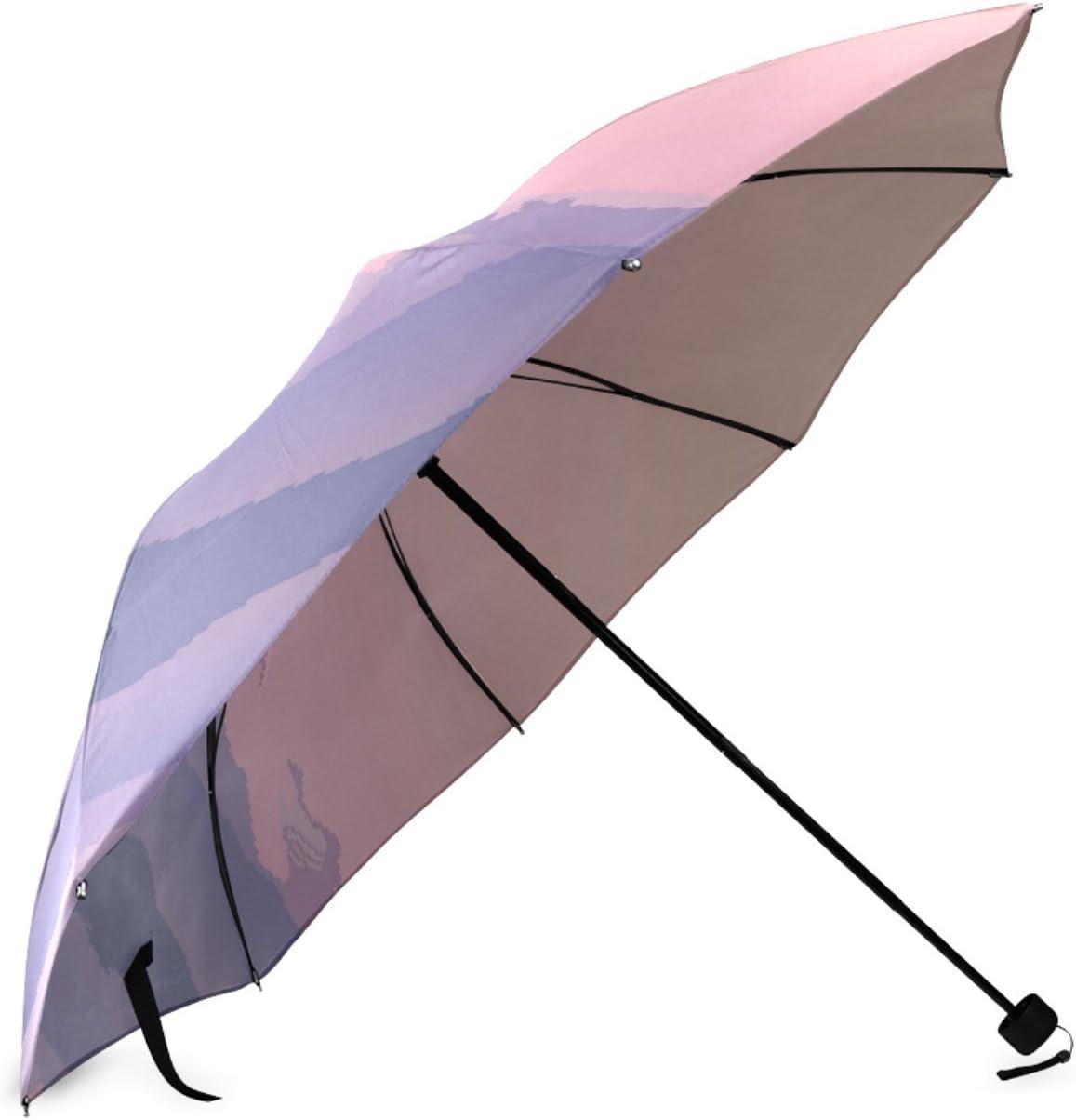 Beautytool Custom Mt Baker Foldable Sun Rain Travel Umbrella