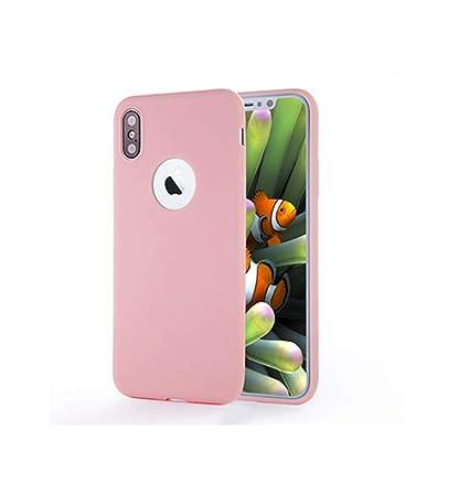 Amazon.com: Carcasa de silicona suave para iPhone X 10, 8, 7 ...