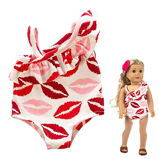 aa327541662b6 Matoen 18 Inch Girl Doll Cute One-Piece Swimsuit Suit Clothes Girl Toy for  Doll