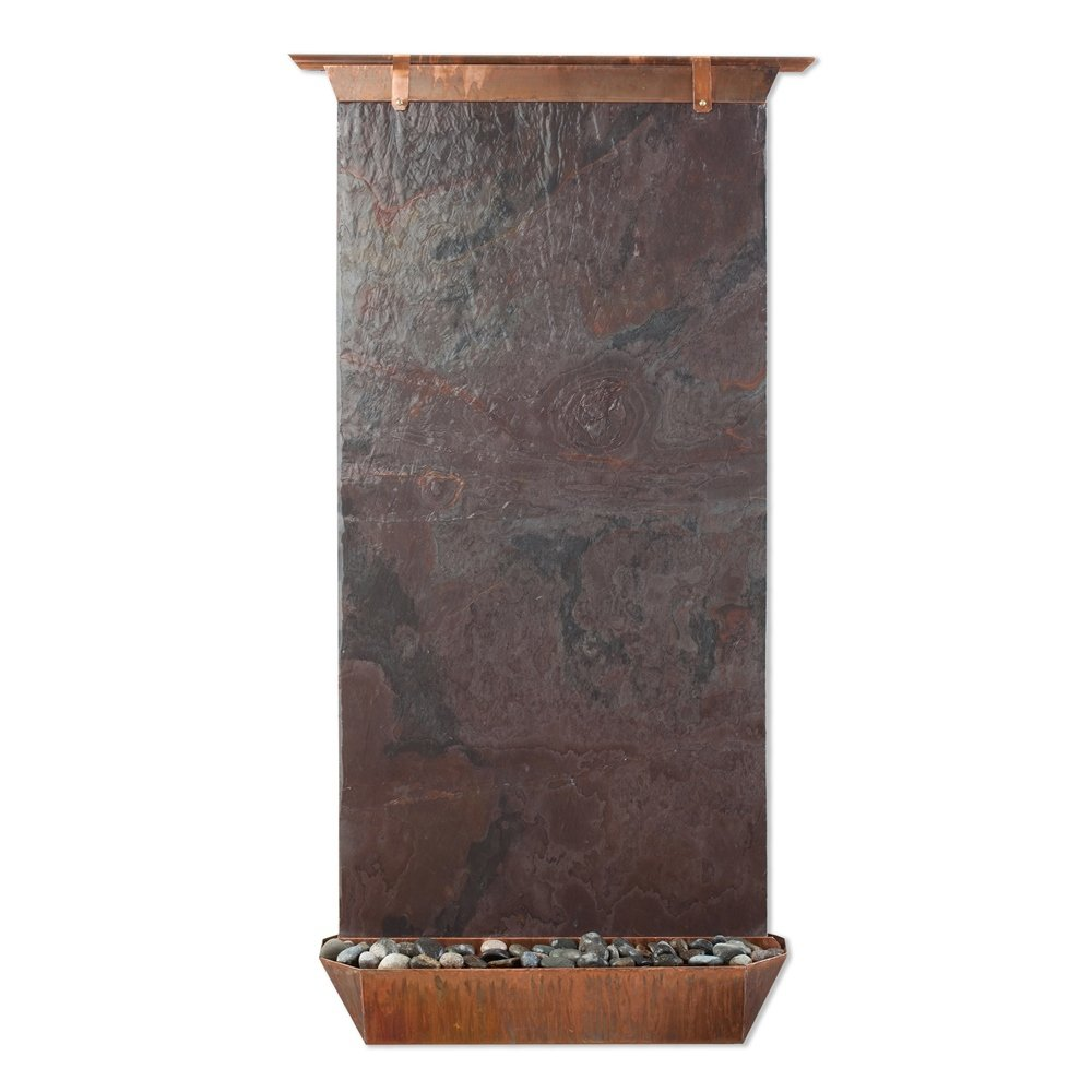 Sunnydaze Angel Falls Copper and Lightweight Slate Wall Fountain, 55-Inch