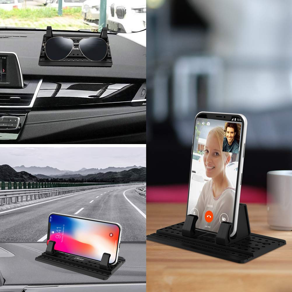 Pixel 3 XL Cell Phone Holder for Car Galaxy Note 9//8 S8//S9//S10 Plus J7 J3 AONKEY Dashboard Car Pad Mat Vehicle GPS Mount Universal Fit All Smartphones Compatible iPhone Xs//XS Max XR X 6S 7//8 Plus